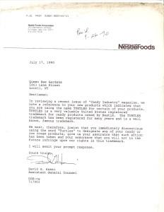 Nestle Letter
