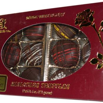 mini truffle gift box - dark