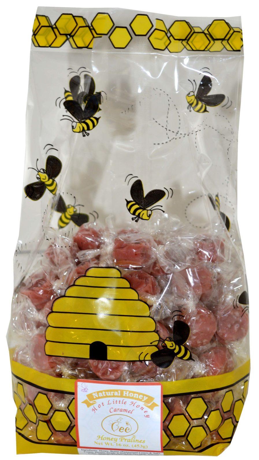 one pound bag of hot little honey caramel